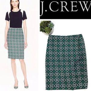 J.CREW green/pink pencil skirt Size 2